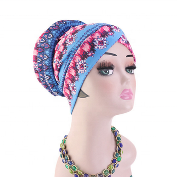 Women's extra long african traditional print head wrap headband head covering scarf