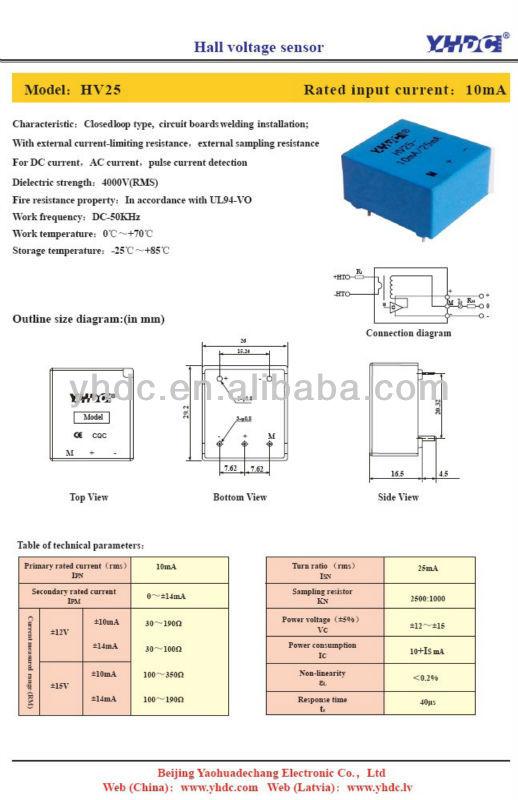 6171a26ea9f5 Hv25 10ma 25ma Hall Voltage Sensor Replace Lem Lv25-p - Buy Hall ...