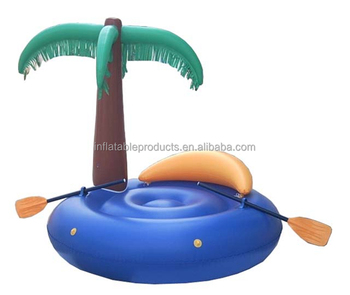 Pvc Inflatable Pool Float Island With Palm Tree Inflatable