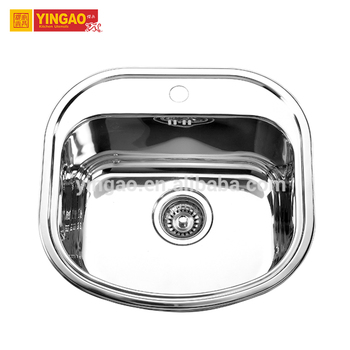 Hot Selling Polished Surface Single Bowl Stainless Steel Kitchen Sink