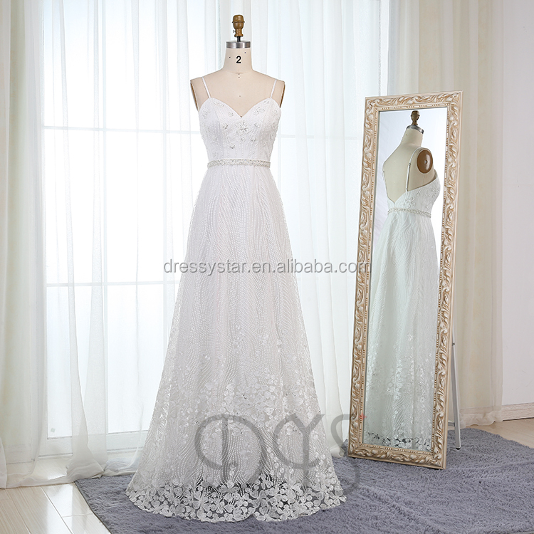 2018 fashion made in China high quality lace sweetheart a-line alibaba wedding dress