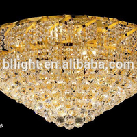High quality led stainless crystal ceiling bathroom light flush mout empire lighting