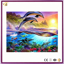 2017 beautiful full beads dolphins landscapes diamond paintings