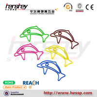 animal shape promotion office pet wrapped dolphin shape paper clips