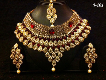 Indian Bridal Stone Necklace Sets Buy Indian Artificial
