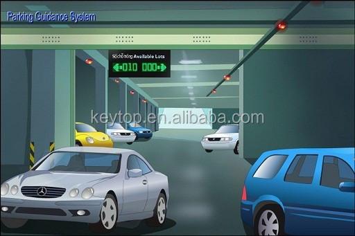 Professionale di progettazione parcheggio sistema di guida con verde