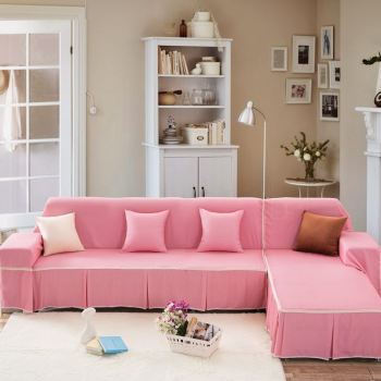 Unikea Pink Sofa Cover Sectional Sofa Covers For L Shaped Sofa