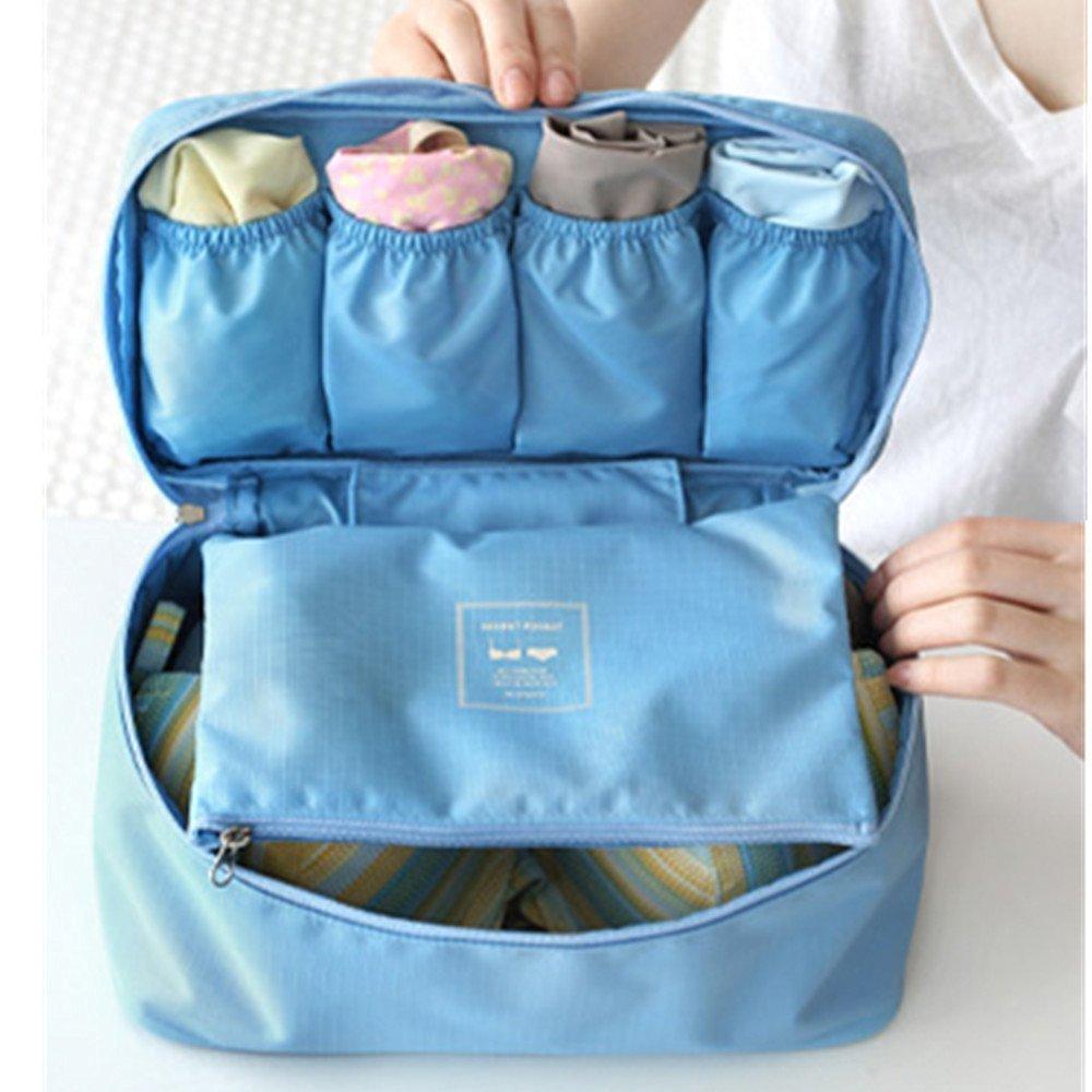 WWSEVEN Portable Travel Drawer Dividers Closet Organizers Bra Underwear Storage Bag