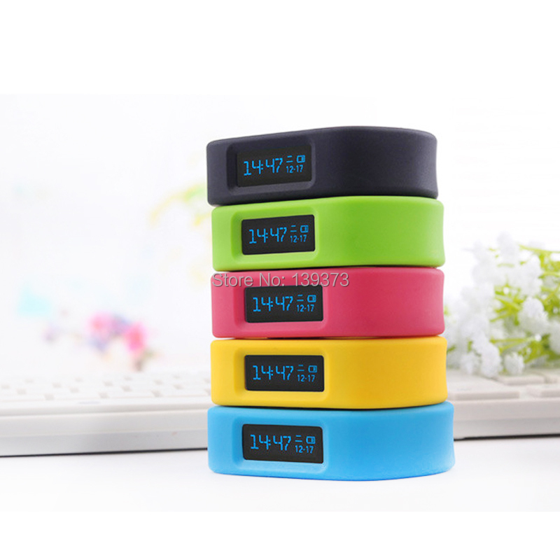 Healthy Smart Sport Watch Wireless Bluetooth Healthy Bracelet Wristband Watch Jelly Multi-Color OLED Pedometer Smart Watches