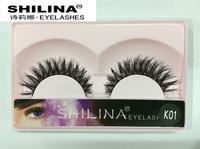 Wholesale Thick Cross K Series Natural Look Human Hair False Eyelash/Human Hair Eyelash Extension