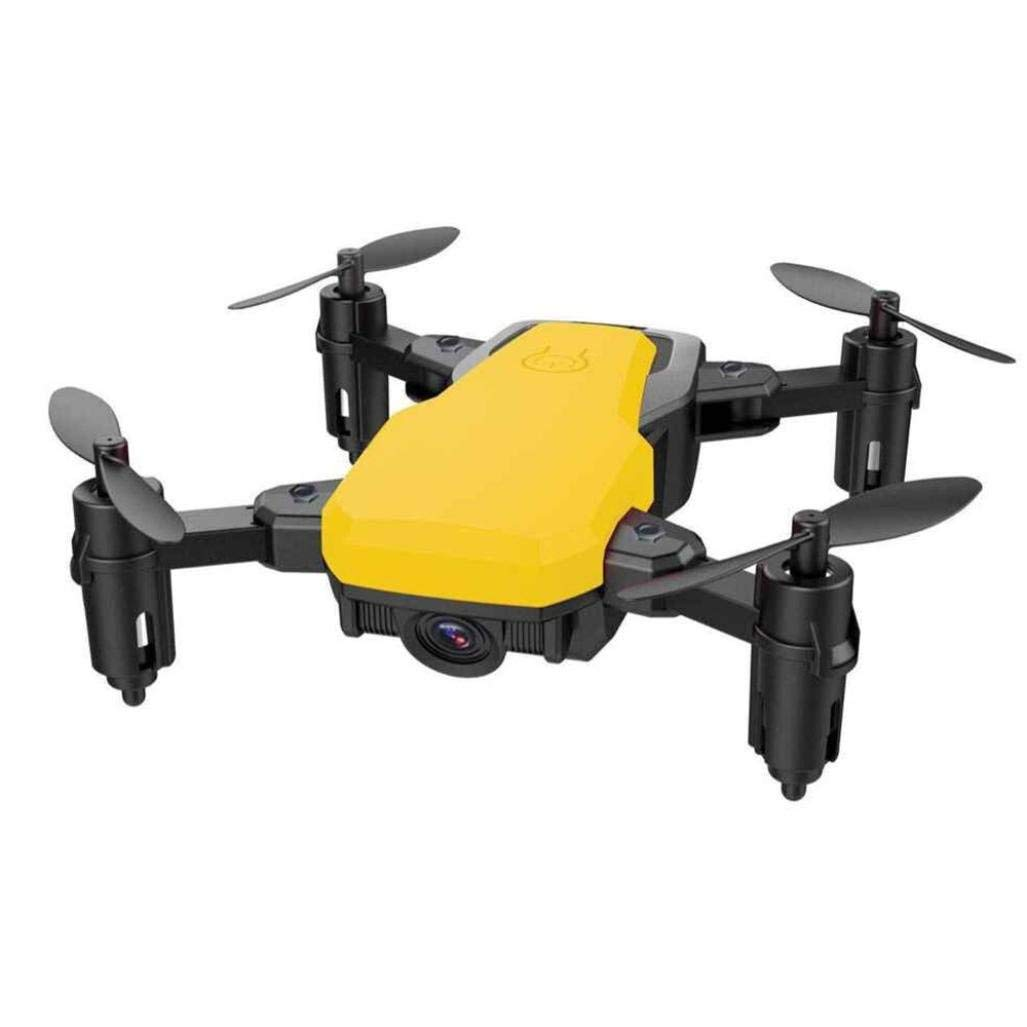 Gbell Mini Foldable Pocket Drone - SG800 WiFi FPV 720P Camera Drone 2.4G 4CH 6-axis Gyro RC Quadcopter for Kids Adults Birthday Christmas New Year Gifts,Blue Red White Yellow Drone (Yellow)