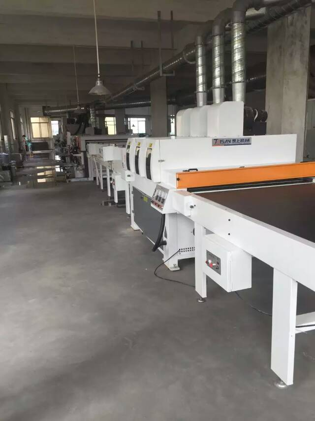 UV double roller coater