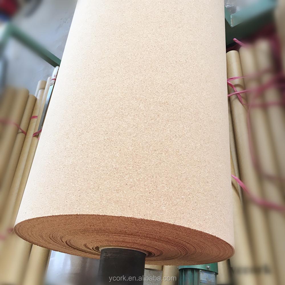 mm de espesor de material de rollo de corcho natural con precio competitivo para el suelo