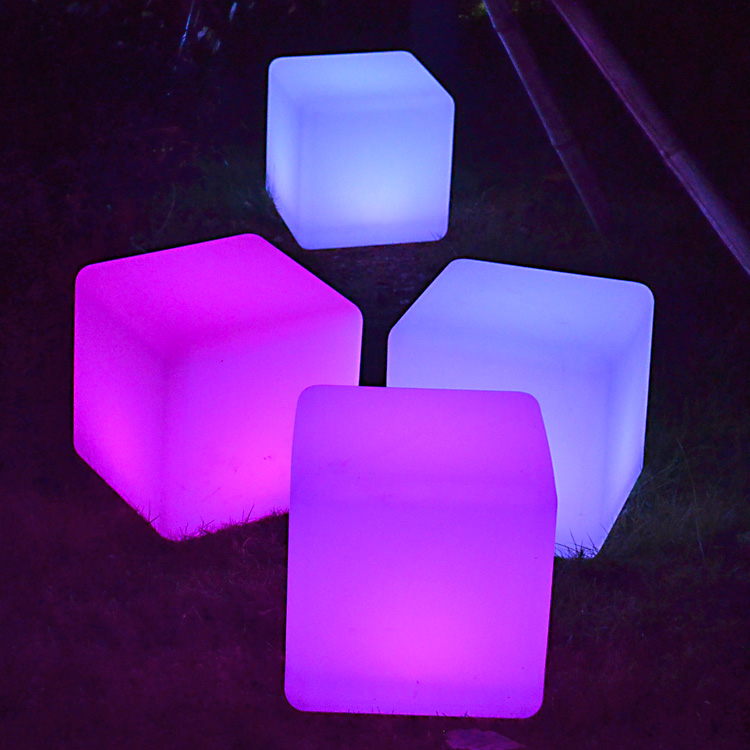 Awesome Ce Furniture Waterproof Led Cube Lighting Decoration Garden Wireless Color  Changing Square Led Cube Chair Light