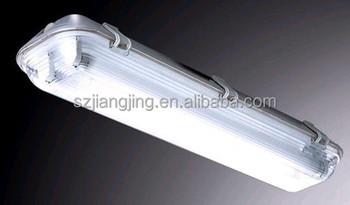Ip65 Weatherproof Led Fluorescent Lighting Fixture 2*18w