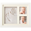 Wooden Picture Frames for Photo Baby Hand and Foot Prints Inkpad Infant Baby Photo Frame