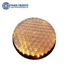 200mm Yellow Railway Safety LED Signal Light with Double Lens