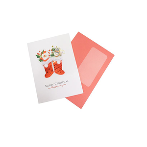 6*10 cm small red/white envelope for message cards packing
