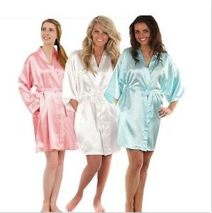 3bef5ae11be29d Best Selling 19mm White Silk Kimono Robe Classic Real Silk Pajamas ...