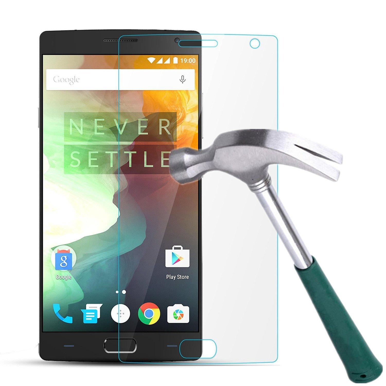 OnePlus 2 Screen Protector, TANTEK [Bubble-Free][HD-Clear][Anti-Scratch][Anti-Glare][Anti-Fingerprint] Tempered Glass Screen Protector for OnePlus 2 [2015 Model],[Lifetime Warranty]-[1Pack]