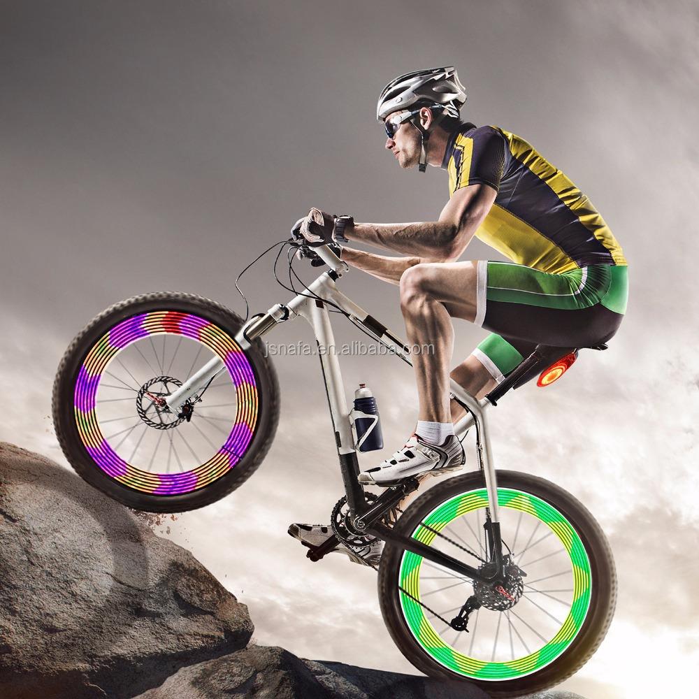 30 Pattern Bicycle Bike Accessories Cycling Wheel Spoke Light  14 LED