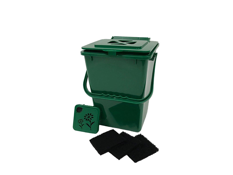 Exaco ECO-2000 Plus Kitchen Compost Waste Collector, 2.4 Gallon, Deluxe Green