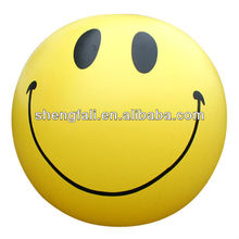 Inflatable smiling face beach ball