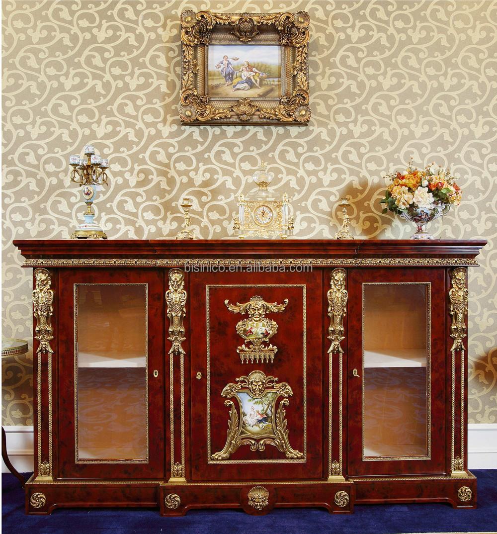 Franse louis xv stijl woonkamer houten kast/reproductie antieke ...