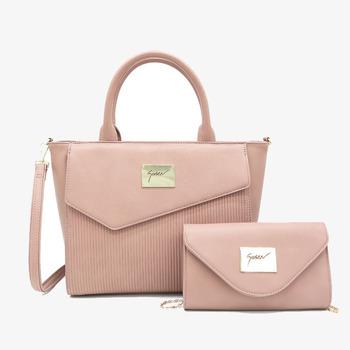 c40f8a266d3b7 SUSEN New designer China high quality elegant PU leather bags set women tote  bags 2pcs handbags
