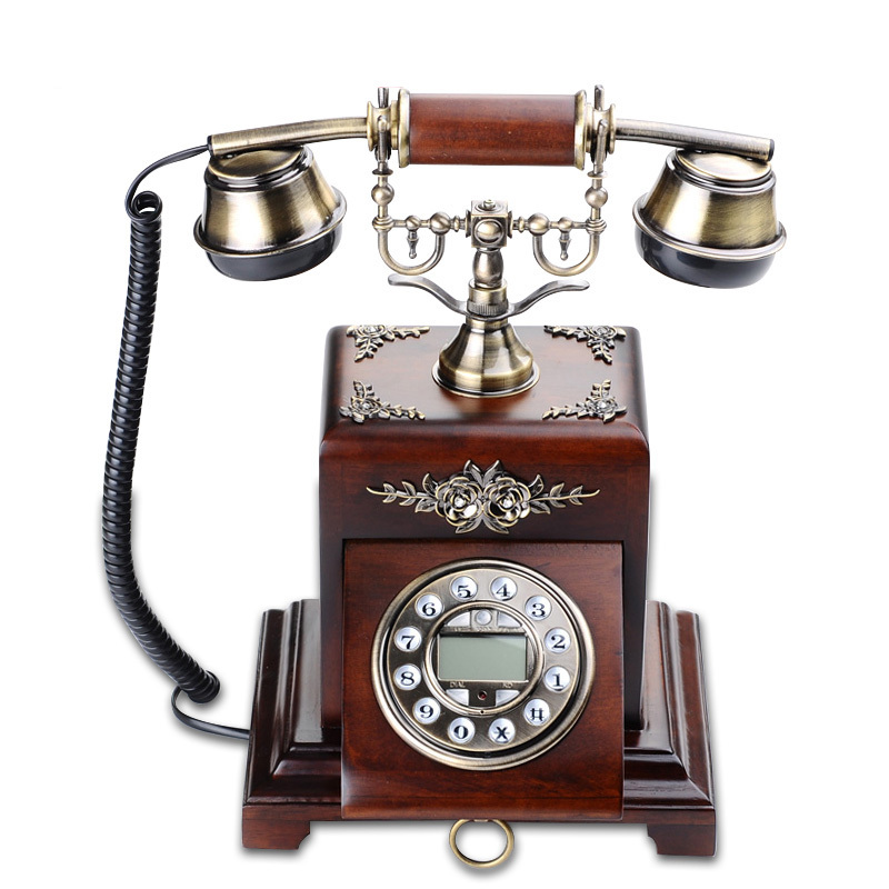 China Import Items Telephone Rustic Wooden Home Decor
