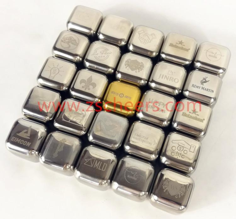 ישיר יצרן נירוסטה חבילה של 8 לשימוש חוזר קרח קוביות אבנים Chilling עם מלקחיים עבור ויסקי יין