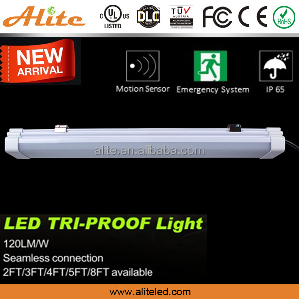 1500mm 60w ip65 led batten light fixture with emergency for exit light