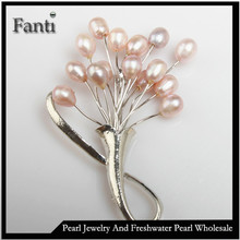 Cheap pearl brooch wholesale/freshwater pearl brooch