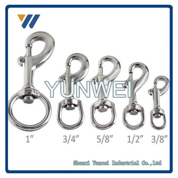 "Stainless Steel Swivel-Eye Bolt Snap Hook - Choose Size 3/8"" to 1"" - Premium Grade 316 SS"