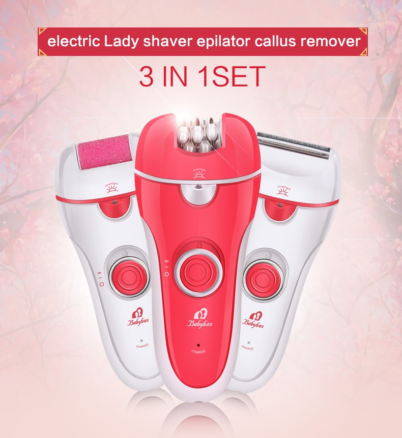 3 in 1 Beauty Kit, electric callus remover, lady shaver and epilator (BR-2788)