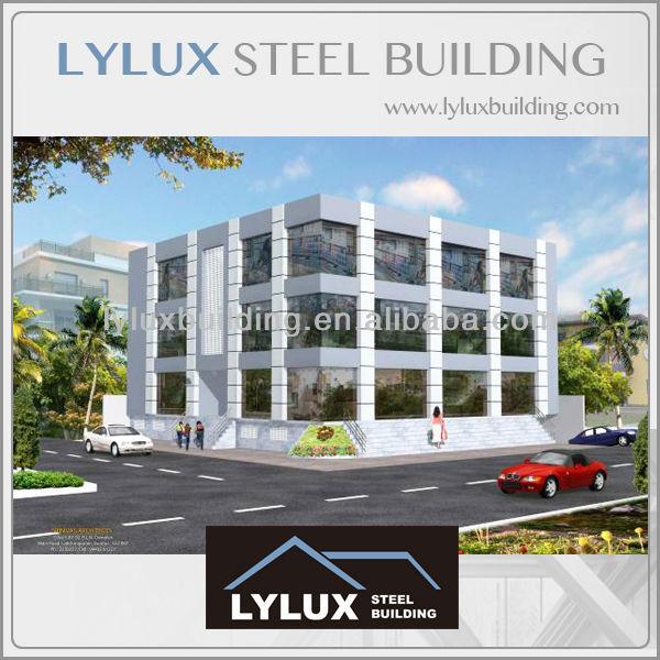 Modern design stalen structuur kantoorgebouw reli fdruk for Metal building office plans