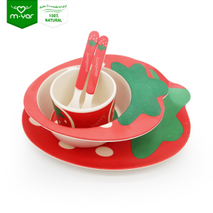 baby biodegradable claytan bright colored wholesale bamboo children's tableware
