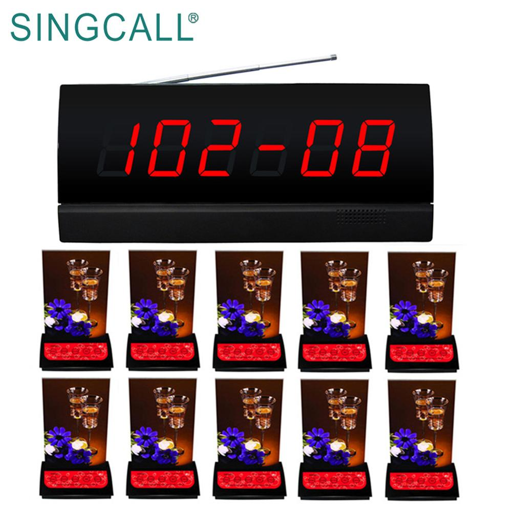 SINGCALL eenvoudige queue management systeem draadloze paging service gast pager