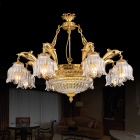 zhongshan new design 8 lights brass chandelier crystal for dinning room