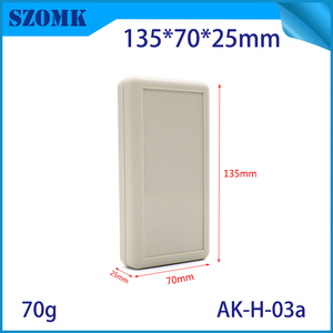Hot selling plastic electronic enclosure with 3AA battery holder for electronic component custom plastic handheld enclosure