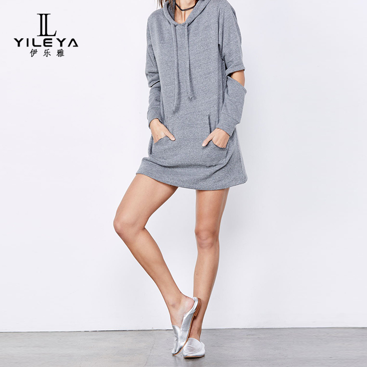 2018 Autumn New women casual hoody,hoodies fashion casual custom,grey womens customised hoodies dress