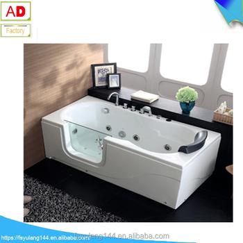 AD 1714 Walk In Bathtub Shower Combo Old People Indoor Hot Tub Very Deep 1