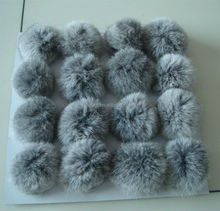 Long Hair Nature 100% Genuine Rabbit Dog Fur Pom Poms Balls Mink Fur Ball