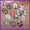 Top Sale Various Sizes Oval Picture Jewelry Glass Flat Back Gemstone Cabochons
