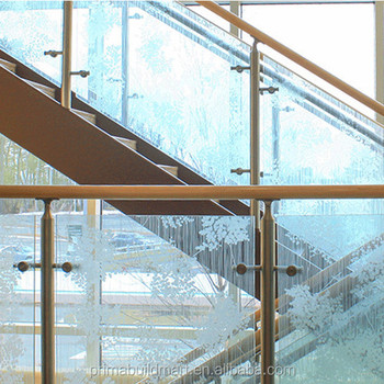 High Quality Low Price Cost Glass Stair Railing/clear Glass Stainless Steel Railing  Systems