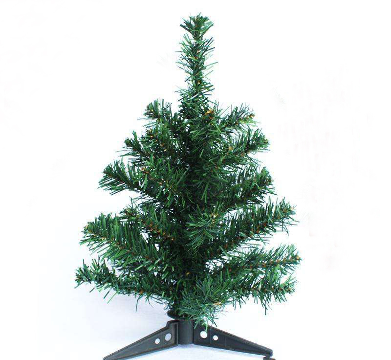 Plastic stand mini artificial table top christmas tree 30cm