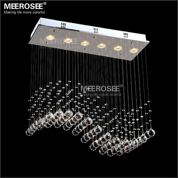Square Crystal Ceiling Lamp Kristal Lampe Modern Lighting From China Online Md8495 L5