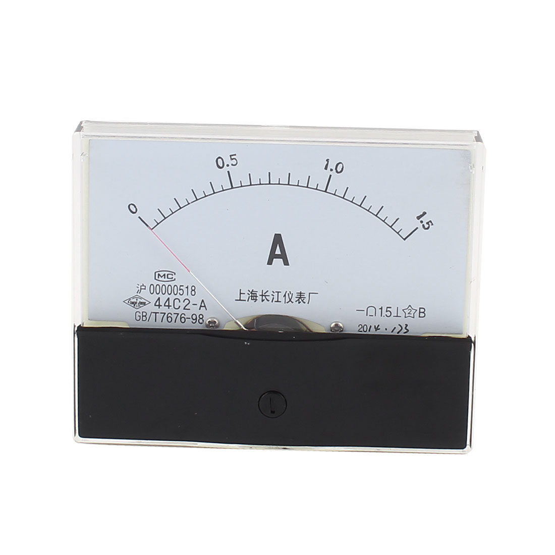 DC 0-1.5A  White Clear Plastic Panel Electric Measure Ammeter Gauge 0.0Ammeter5.0