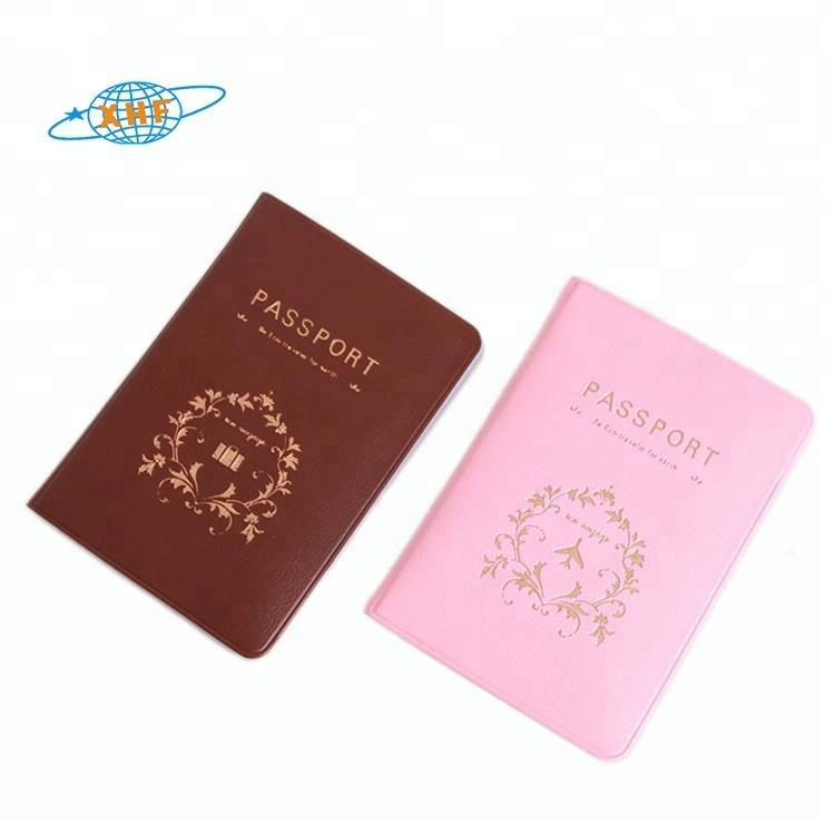 Groothandel mode goedkope PVC paspoorthouder cover voor promotie