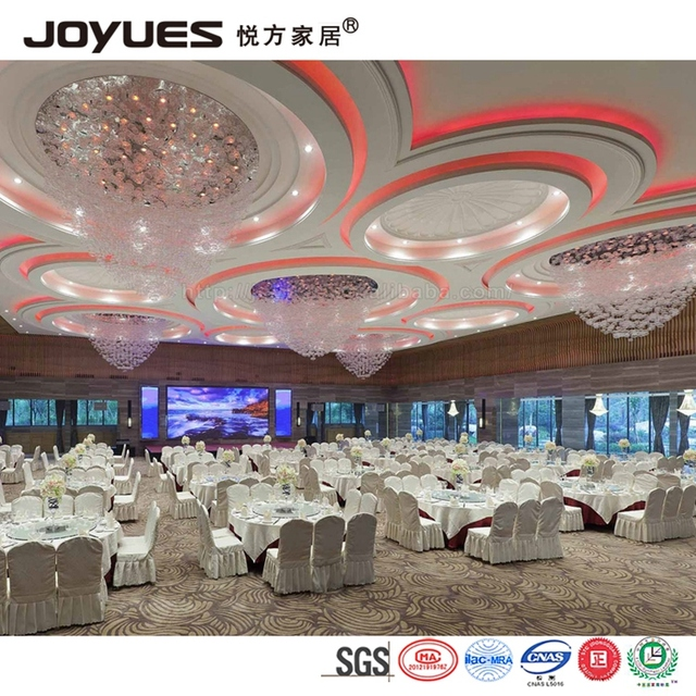hotel banquet party furniture wedding dinning table and chair set with cloth cover